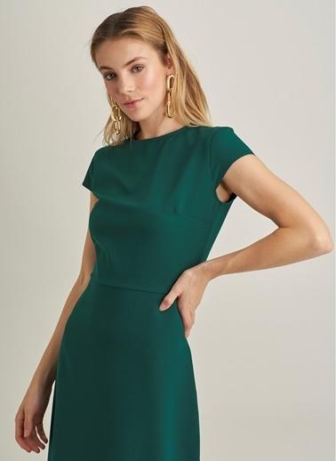 NGSTYLE Midi Yırtmaçlı Elbise Yeşil